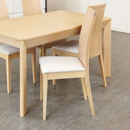 Olten Uno Light Oak Dining Chair - Stone (Pack of Two)